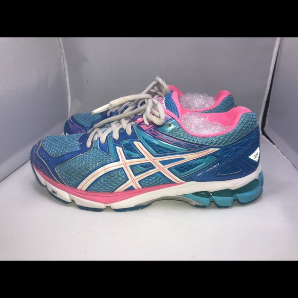 PreOwned ASICS GT 1000 SIZE 9 Women's Blue & Pink